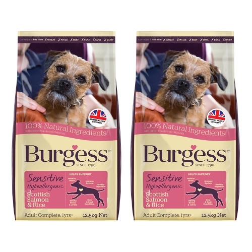 Burgess Complete Sensitive Salmon Adult Dog Food 12.5kg x 2