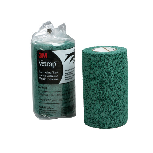 3M Vetrap Bandage Hunter Green 100 Pack 10cm