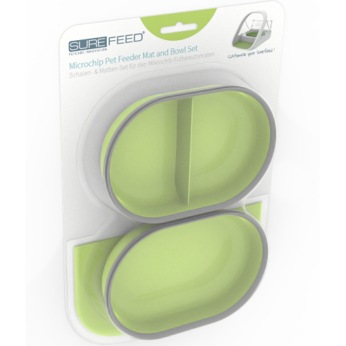 SureFeed Bowl & Mat Accessory Pack for SureFeed Microchip Feeder Green
