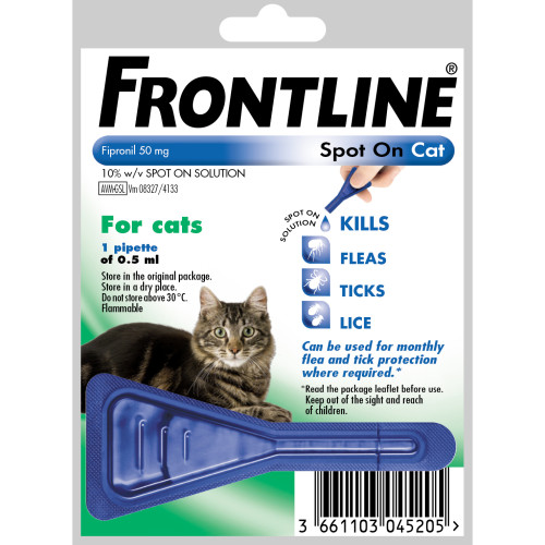 Frontline Flea Spot On Cat 0.5ml x 1 pippette