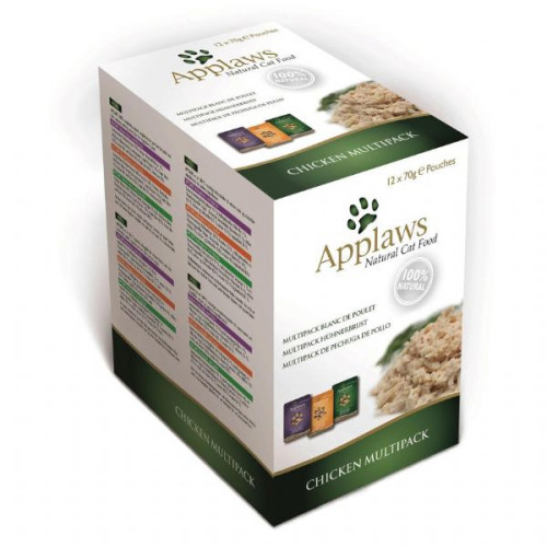 Applaws Chicken Pouches Multipack Cat Food 12x70g Multipack