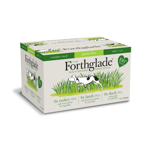 Forthglade Complete Grain Free Multipack Dog Food 395g x 12