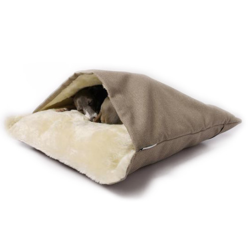 Charley Chau Luxury Weave Snuggle Dog Bed Pewter - Medium