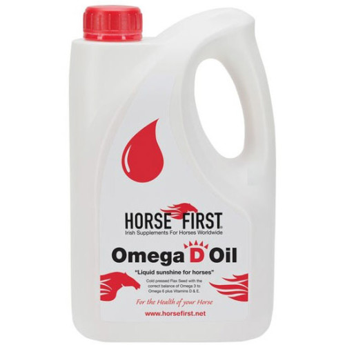 Horse First Omega D Oil Horse Supplement 4 Litres