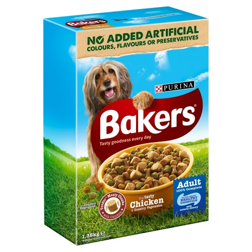 Bakers Complete Chicken & Vegetable Adult Dog Food 1.35kg