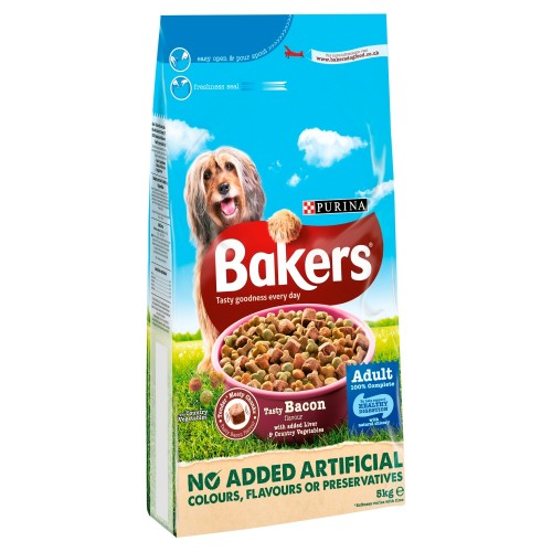 Bakers Complete Bacon & Liver Adult Dog Food 5kg