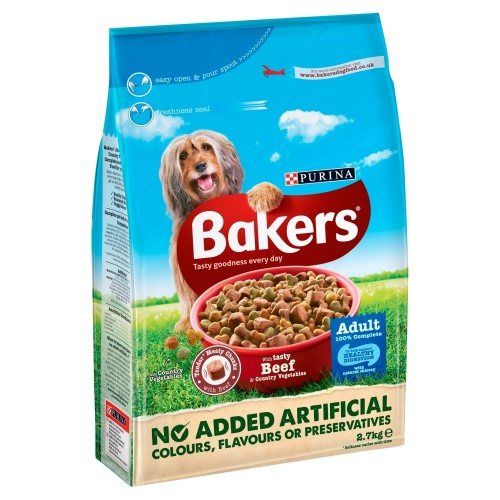 Bakers Complete Beef & Vegetable Adult Dog Food 2.7kg