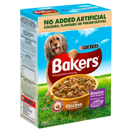 Bakers Complete Chicken & Rice Senior Dog Food 1kg