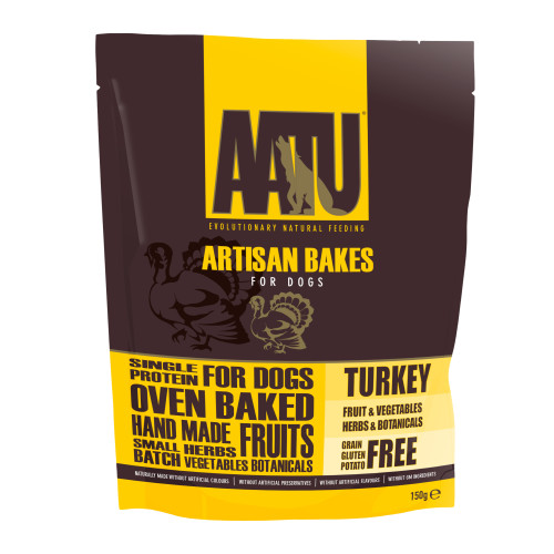 AATU Artisan Bakes Dog Treats Turkey - 150g