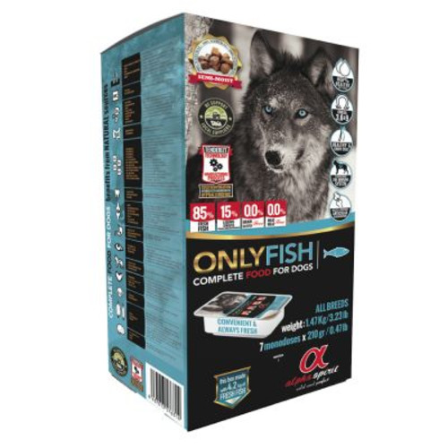 Alpha Spirit Fish Semi-Moist Adult Dog 210g x 7