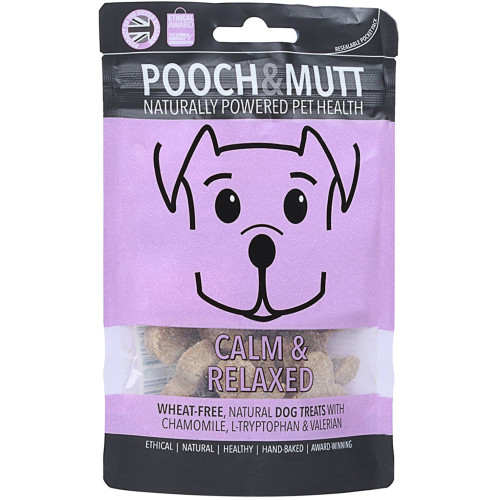 Pooch & Mutt Calm & Relaxed Natural Dog Treats 40g Pocket Pack