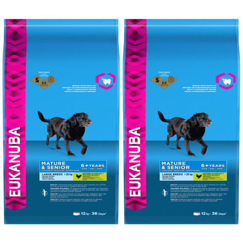 Eukanuba Chicken Large Breed Mature & Senior 6+ Dog Food 12kg x 2