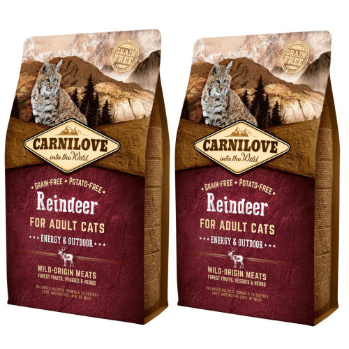 Carnilove Energy & Outdoor Reindeer Adult Cat Food 6kg x 2