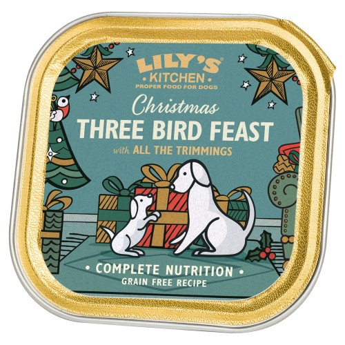 Lilys Kitchen Christmas Three Bird Feast Dog Food 150g x 10