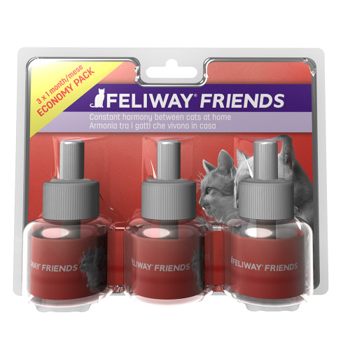Feliway Friends Cat Calming Diffuser Refill 48ml x 3 Multipack