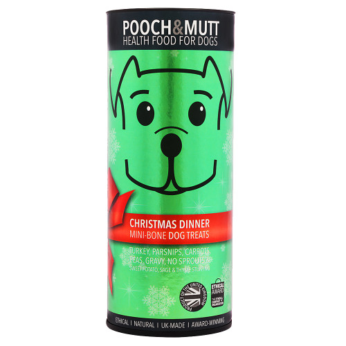 Pooch & Mutt Christmas Dinner Mini Bones Dog Treats 125g