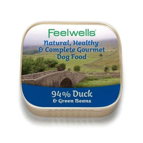 Feelwells Duck & Green Beans Wet Dog Food 150g x 22
