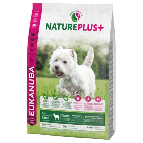 Eukanuba Nature Plus Lamb Adult Small Breed Dog Food 10kg