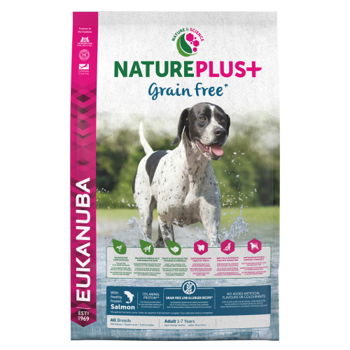 Eukanuba Nature Plus Salmon Grain Free All Breeds Adult Dog Food 10kg
