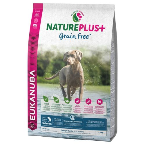Eukanuba Nature Plus Salmon Grain Free All Breeds Puppy Food 10kg