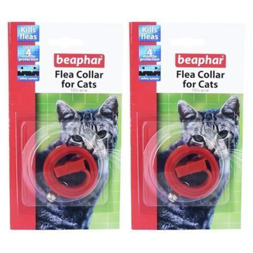 Beaphar Plastic Flea Collar for Cats Double Pack