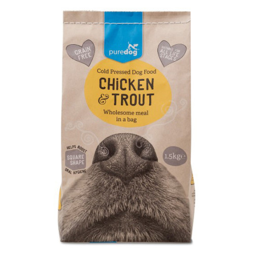 Pure Dog Chicken & Trout Cold Pressed Dog Food 5kg