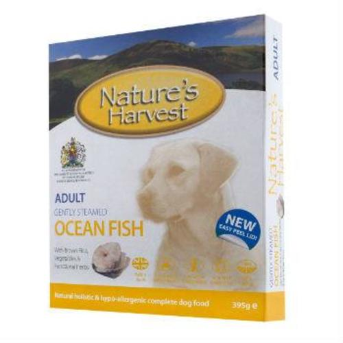 Natures Harvest Ocean Fish & Brown Rice Adult Dog Food 395g x 10