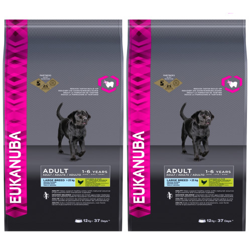 Eukanuba Chicken Large Breed Adult Dog Food 12kg x 2