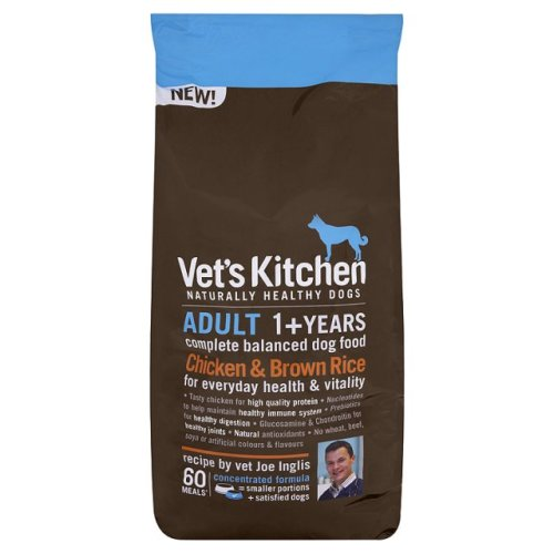 Vets Kitchen Chicken & Brown Rice Adult Dog Food 1.3kg