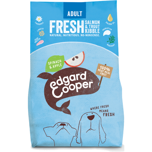 EdgardCooper Fresh Salmon & Trout with Spinach & Apple Adult Dog Food 2.5kg