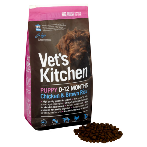 Vets Kitchen Puppy Chicken & Brown Rice Dog Food 1.3kg
