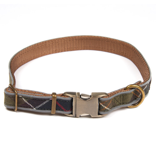 Barbour Reflective Tartan Dog Collar Medium