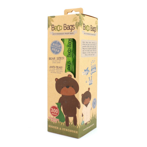 BecoBags Eco Friendly Poo Bags 300 Bags - X-Large