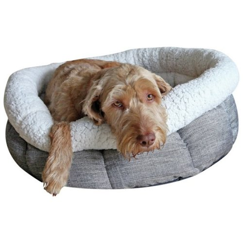 Rosewood Deep Tweed Oval Teddy Bear Dog Bed 20""