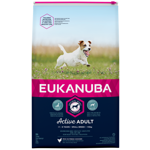 Eukanuba Active Adult Chicken Small Breed Adult Dog Food 12kg