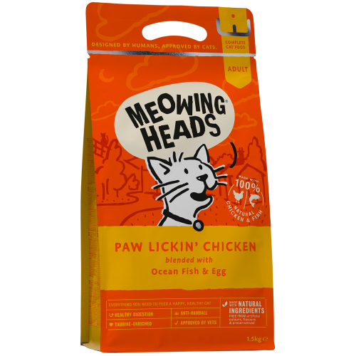 Meowing Heads Paw Lickin Chicken Adult Cat Food 1.5kg
