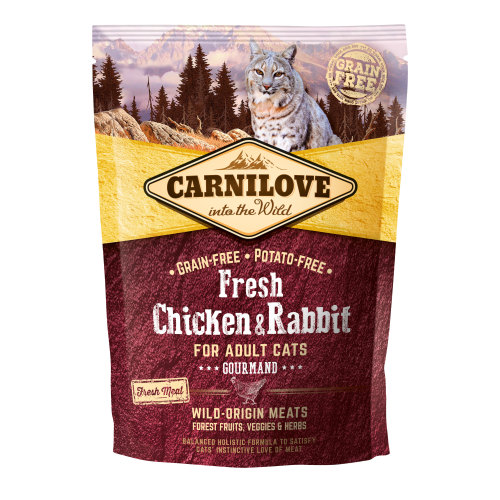 Carnilove Fresh Chicken & Rabbit Dry Adult Cat Food 400g