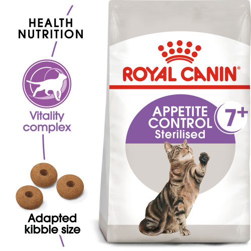 Royal Canin Appetite Control Sterilised 7+ Dry Adult Senior Cat Food 1.5kg