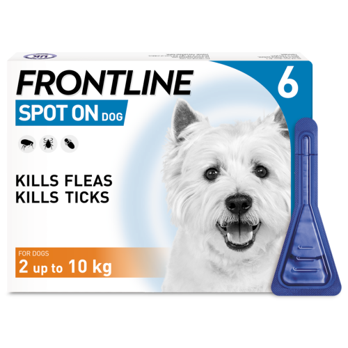 FRONTLINE Flea & Tick Treatment Dog Small Dog (2-10kg) 3 Pack