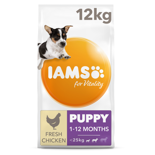 IAMS for Vitality Chicken Small & Medium Breed Puppy Dry Dog Food 12kg