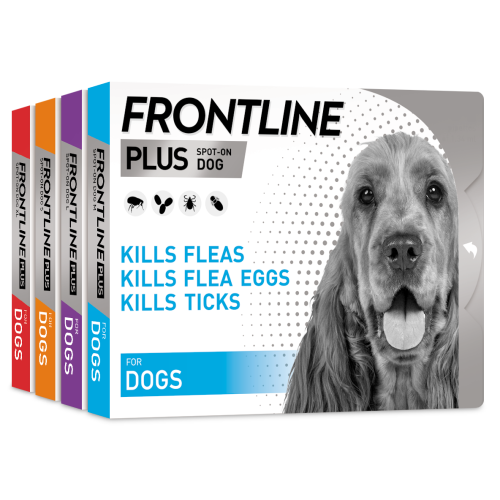 FRONTLINE Plus Flea & Tick Treatment Dog Small Dog (2-10kg) 3 pack NFA-D