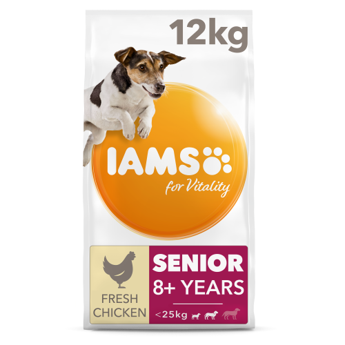 IAMS for Vitality Chicken Senior Small & Medium Breed Dry Dog Food 12kg