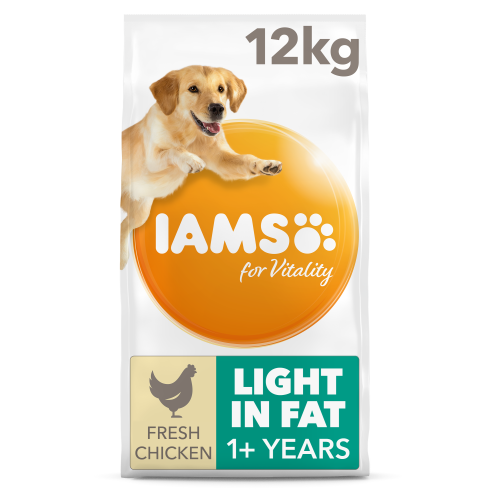 IAMS for Vitality Light in Fat Chicken Dry Dog Food 12kg x 2