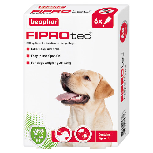 Beaphar FIPROtec Spot On for Dogs Large Dog 6 Pipettes