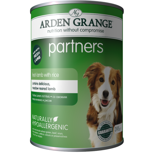 Arden Grange Partners Lamb & Rice Wet Adult Dog Food 395g x 24