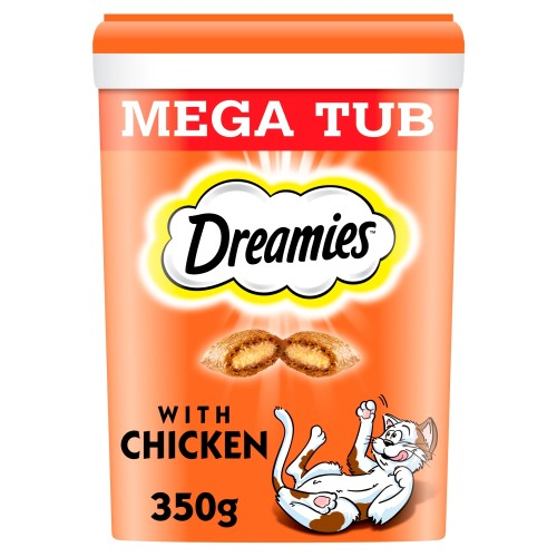 Dreamies Mega Tub of Cat Treats 350g - Chicken