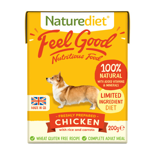 Naturediet Feel Good Chicken Wet Adult Dog Food Cartons 200g x 8 Starter Pack