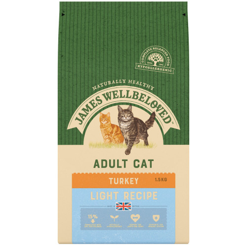 James Wellbeloved Turkey Light Cat Food 1.5kg x 4