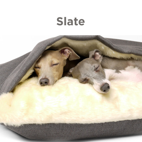 Charley Chau Luxury Weave Snuggle Dog Bed Slate - Large