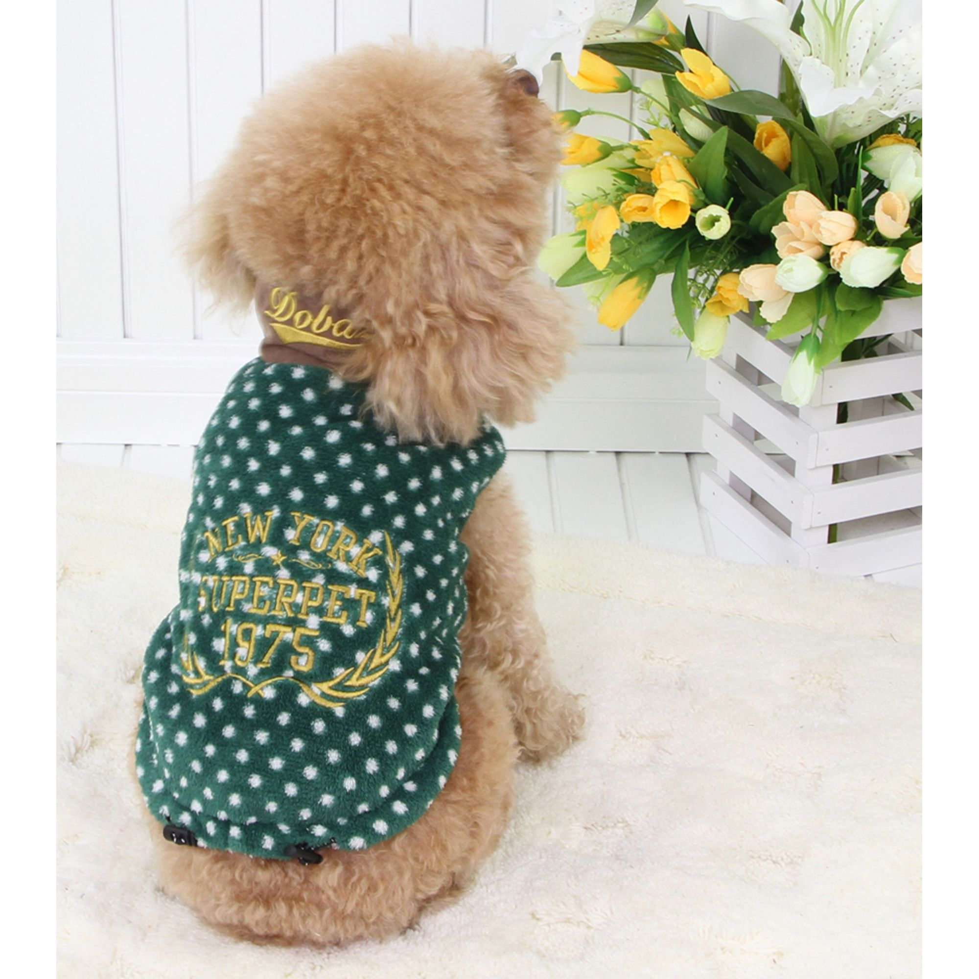 Eden.H Limited Turtle Neck Dots Coat - Green - Small
